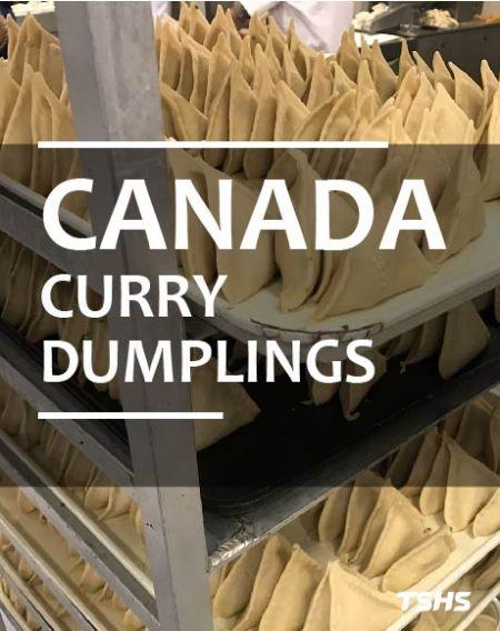 加拿大-邁向生產自動化-連續式油炸機 - 加拿大餃子油炸