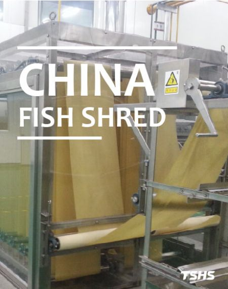 CHINA - Fried Fish Crackers、 Green Pea - fish shred production line