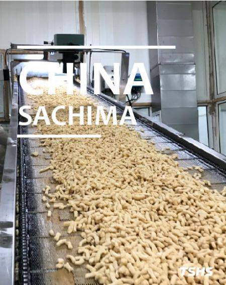 China- Sachima(ขนมข้าวพอง)-Continuous Fine Filter - Sachima Frying Machine