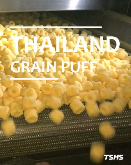 Thailand- Upgrade Automation Of Equipment - GRAIN PUFF PRODUCTION LINE- ROTARY SEASONING DRUM - THAILAND- GRAIN PUFF