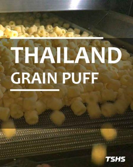 ประเทศไทย- อัพเกรดระบบอัตโนมัติของอุปกรณ์      <br />- GRAIN PUFF PRODUCTION LINE- ROTARY SEASONING DRUM