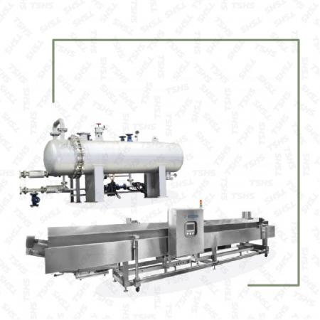 Continuous Frying Machine-Steam Convection Oil Heating System - Continuous Steam Type Heat Changer Oil Fryer