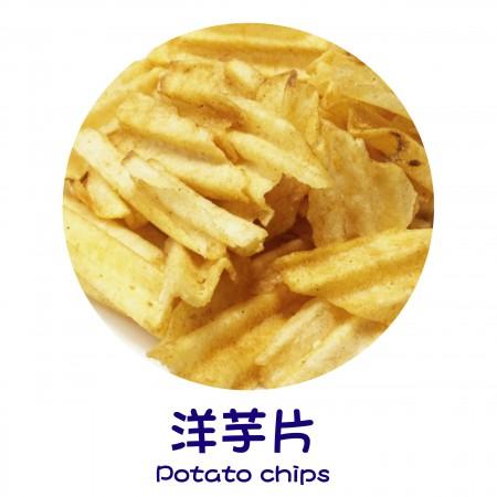 Produkty wykończeniowe – chipsy ze słodkich ziemniaków