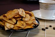 Fried Syrup Banana Chips - Fried Sugared Banana Chips
