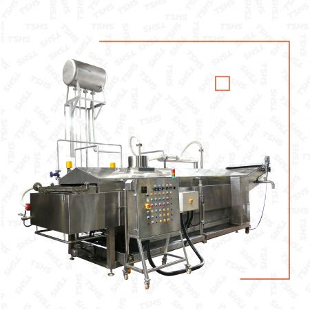 Continuous Deep Oil Fryer for Syrup Coating Product