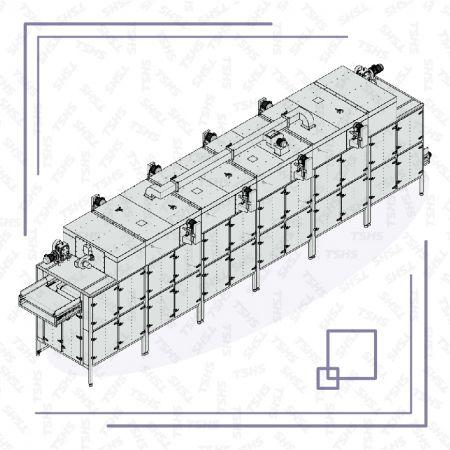 Многослойна сушилня тип модул - Модулен комбиниран многослоен сушилня