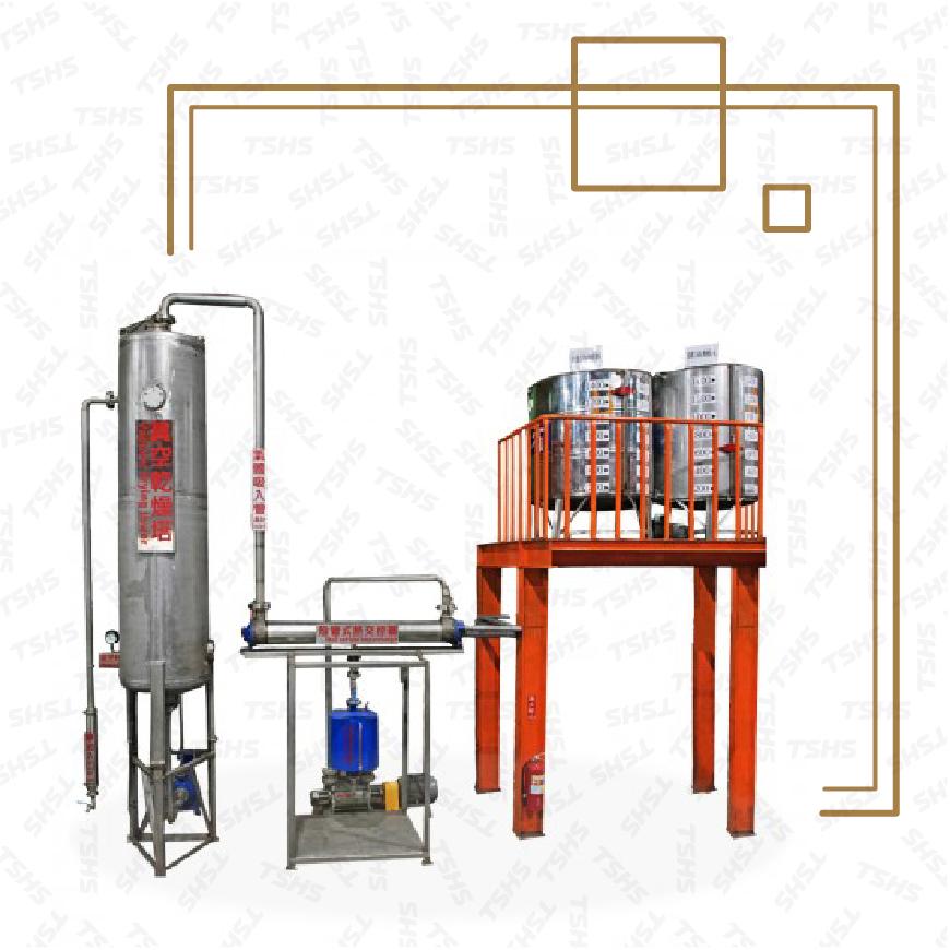 Separador de agua y aceite al vacío continuo
