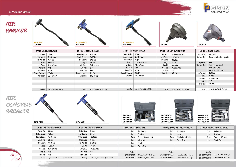 2016-2017 GISON Air Tools, Pneumatic Tools Catalog | GISON