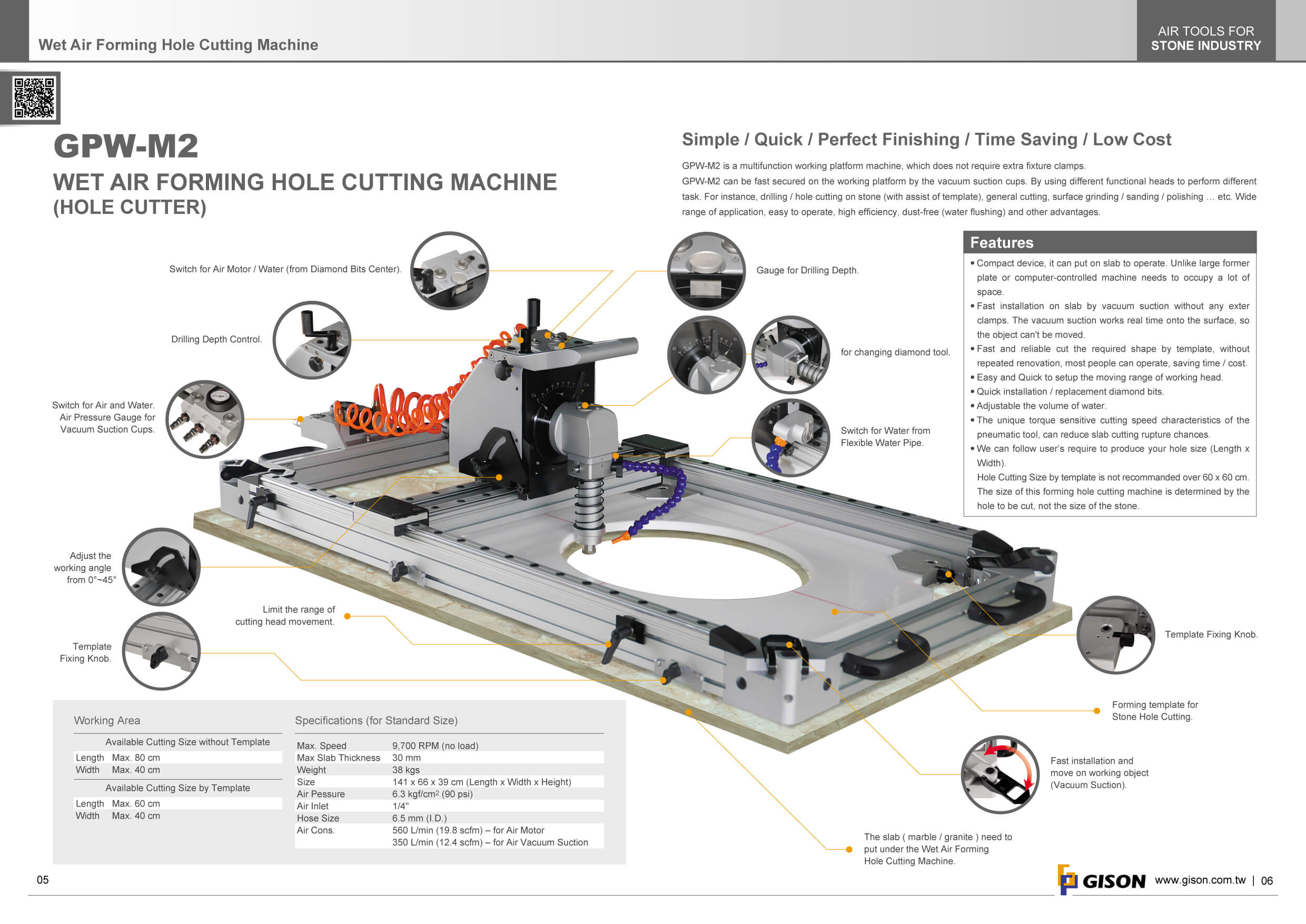 2018 GISON Wet Air Tools for Stone,Marble,Granite Industry Catalog