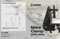 GISON GPW-A04A石用45°斜角エッジボンディング補助クランプ(ミルテクランプ)カタログ - 石用GISON45°ベベルエッジクランプ(ミルテクランプ)カタログ
