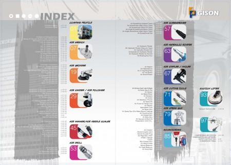 GISON 공기 도구, 공압 도구 색인