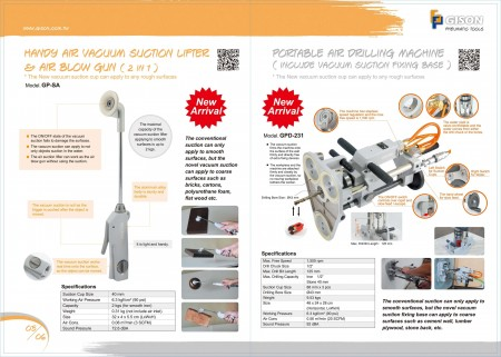 Mew Products: Handy Vacuum Suction Lifter, Air Drilling Machine