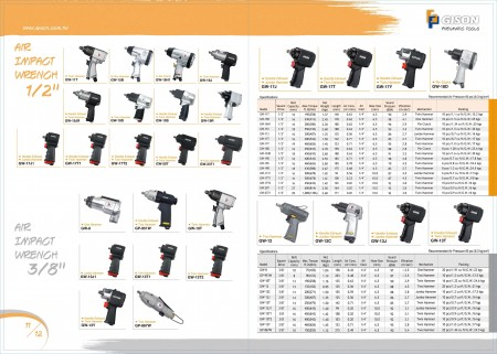 """GISON Air Impact Wrench 1/2 """", Air Impact Wrench 3/8"""""""