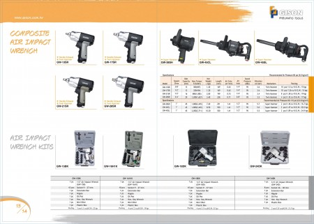 GISON Composite Air Impact Wrench Air Impact Wrench Kits