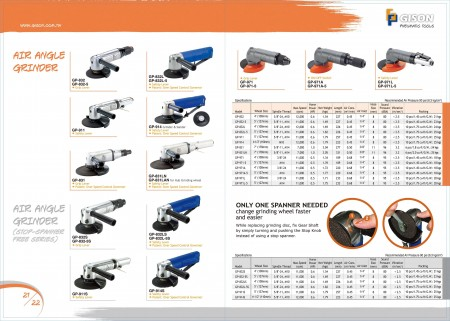 GISON Air Angle Grinder, Air Angle Grinder (Stop Spanner Free)