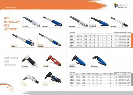 GISON Smerigliatrice per stampi ad estensione pneumatica, Smerigliatrice per stampi ad angolo pneumatico