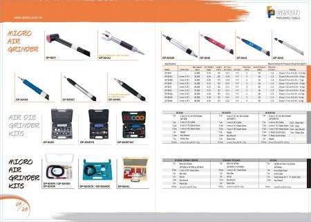 GISON Micro Air Grinder, Air Die Grinder комплекти, Micro Air Grinder комплекти