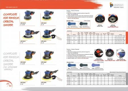 GISON GPS-301/302 Levigatrice orbitale pneumatica, GPS-303/304 Levigatrice orbitale pneumatica (Senza chiave inglese)