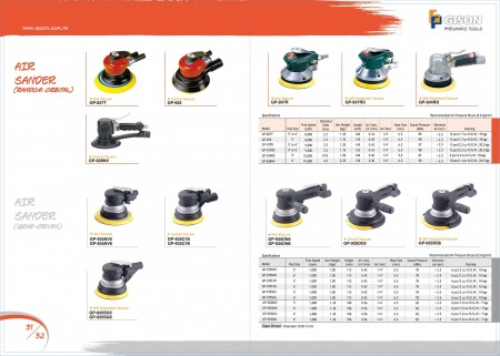 GISON Air Sander (Orbital Rawak), Air Sander (Pemandu Gear)