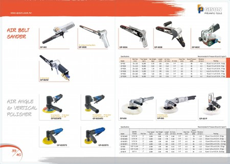 GISON Levigatrice a nastro pneumatica, lucidatrice angolare pneumatica, lucidatrice pneumatica verticale