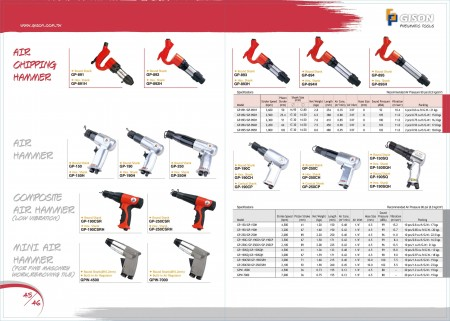 GISON Air Chipping Hammer, Air Hammer, martello GISON composito