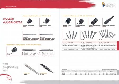 GISON Přídržná pružina, kladivo, sekáč, gravírovací pero