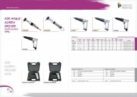 GISON Air ScrewDriver (Slip-Clutch Type), Air ScrewDriver Kit