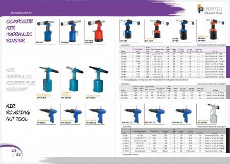GISON Kompozit Havalı Hidrolik Perçin Makinası, Havalı Hidrolik Perçin Makinası (Uçak için), Havalı Perçinleme Somun Aletleri