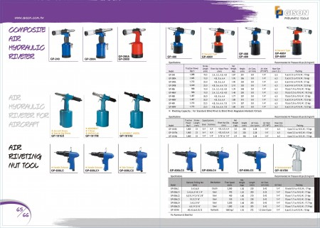 GISON Composite Air Hydraulic Riveter, Air Hydraulic Riveter (สำหรับเครื่องบิน), Air Nut Riveting Nut Tools