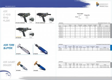 GISON Air C Hog Ring Plier, Air Tire Buffer, Air Smart Eraser,