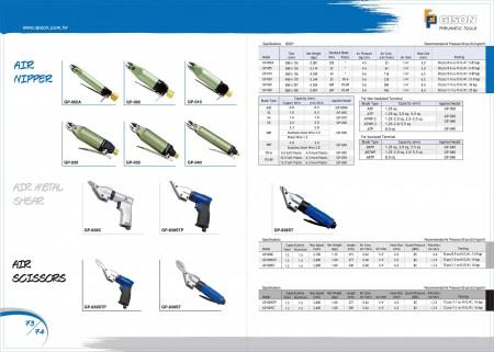 GISON Air Nipper, Air Metal Shear, Air Metal Gunting