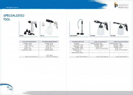 GISON Kit per sabbiatura ad aria compressa, estrattore per ammaccature ad aria, pistola per la pulizia di schiume d'aria, pistola per la pulizia della lama d'aria oscillante