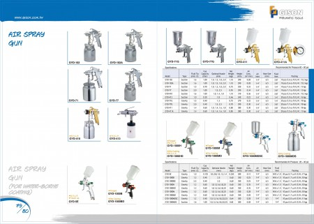 GISON Air Spray Gun, Air Spray Gun (untuk Lapisan Air)