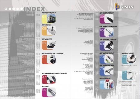 GISON Outils pneumatiques, index des outils pneumatiques