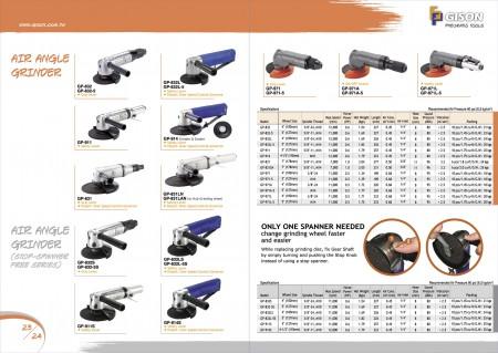 GISON Пневматическая угловая шлифовальная машина, Воздушно-угловая шлифовальная машина (без гаечного ключа)