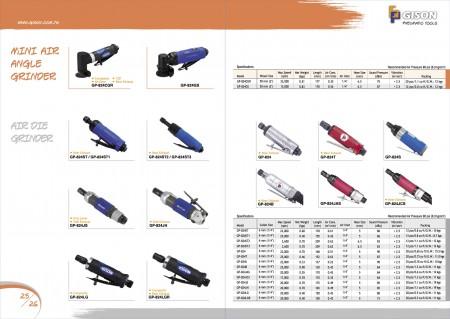 GISON Mini meuleuse d'angle pneumatique, meuleuse pneumatique