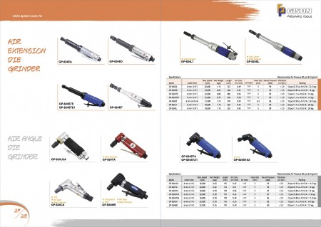 GISON Air Extension Die Grinder၊ Air Angle Die Grinder၊