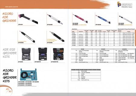 GISON Micro meuleuse à air, kits de meuleuse à air comprimé, kits de meuleuse à air micro
