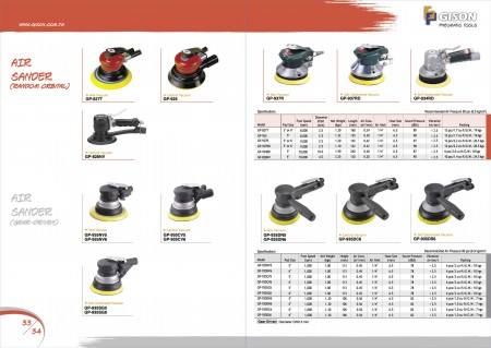 GISON Air Sander (ကျပန်း Orbital), Air Sander (Gear Driver)