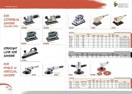 GISON آلة صنفرة الجيربوغ الهوائية ، آلة صنفرة الهواء بخط مستقيم ، آلة صنفرة بزاوية هوائية / صنفرة رأسية