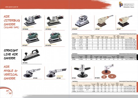 GISON Air Jitterbug Sander၊ Straight Line Air Sander၊ Air Angle / Vertical Sander