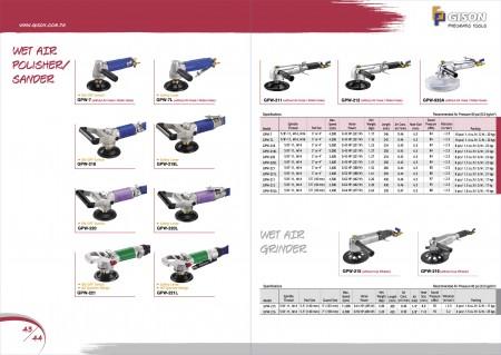 GISON Полірувальник для вологого повітря, шліфувальна машина для мокрого повітря, подрібнювач вологого повітря