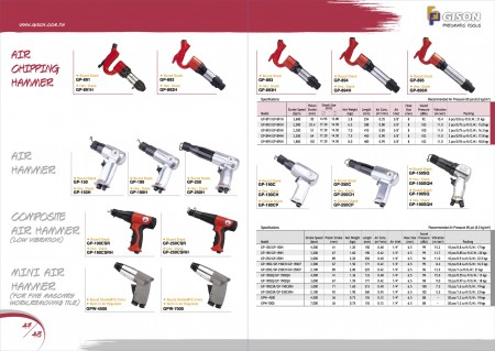GISON Air Chipping Hammer၊ Air Hammer၊ Composite Air Hammer