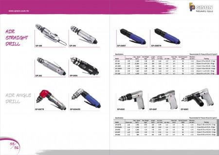 GISON Пневматическая реверсивная дрель, Комплекты пневматической дрели, Угловая дрель для тяжелых условий эксплуатации