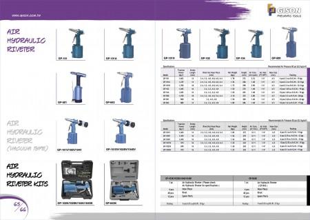 GISON Air Hydraulic Riveter, Vacuum Air Hydraulic Riveter