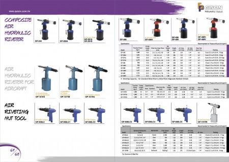 GISON Heavy Duty Air Hydraulic Riveter, Air Reveting Tool
