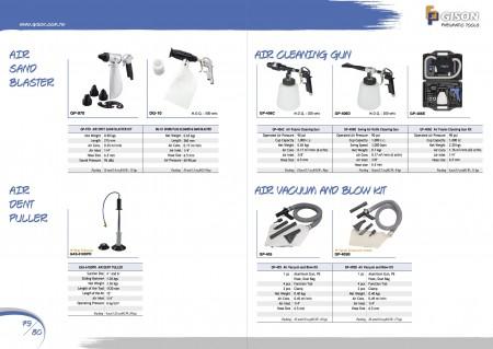 GISON Air Spot Sand Blaster Kit, Air Dent Puller, Air Foams Cleaning Gun, Swing Air Knife Cleaning Gun, Air Vacuum and Blow Kit