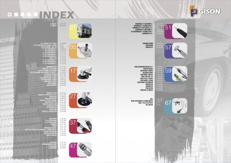 GISONエアツール、空気圧ツールインデックス