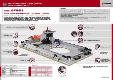 Máquina cortadora de orificios formadora de piedra de aire húmedo portátil GPW-M2