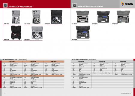 Kits de llaves de impacto neumáticas, kits de llaves de trinquete neumáticas